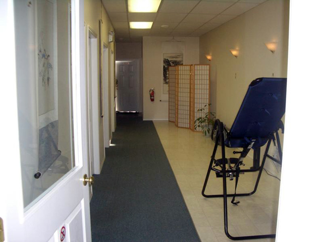 hallway with therapy rooms